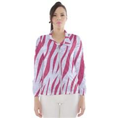 Skin3 White Marble & Pink Denim (r) Windbreaker (women)