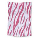 SKIN3 WHITE MARBLE & PINK DENIM (R) Large Tapestry View1