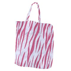 Skin3 White Marble & Pink Denim (r) Giant Grocery Zipper Tote by trendistuff