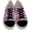 SKIN3 WHITE MARBLE & PINK DENIM (R) Men s Low Top Canvas Sneakers View1