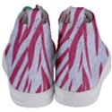 SKIN3 WHITE MARBLE & PINK DENIM (R) Women s Mid-Top Canvas Sneakers View4