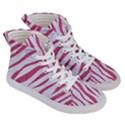SKIN3 WHITE MARBLE & PINK DENIM (R) Women s Hi-Top Skate Sneakers View3