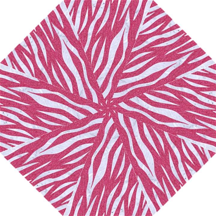 SKIN3 WHITE MARBLE & PINK DENIM Hook Handle Umbrellas (Medium)