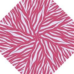 Skin3 White Marble & Pink Denim Hook Handle Umbrellas (large)