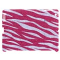 SKIN3 WHITE MARBLE & PINK DENIM Apple iPad 3/4 Hardshell Case (Compatible with Smart Cover) View1