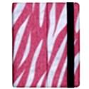 SKIN3 WHITE MARBLE & PINK DENIM Apple iPad 3/4 Flip Case View2