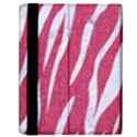 SKIN3 WHITE MARBLE & PINK DENIM Samsung Galaxy Tab 10.1  P7500 Flip Case View2