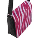 SKIN3 WHITE MARBLE & PINK DENIM Flap Messenger Bag (L)  View2