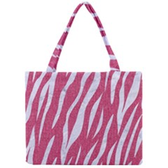 Skin3 White Marble & Pink Denim Mini Tote Bag