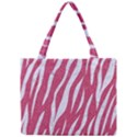 SKIN3 WHITE MARBLE & PINK DENIM Mini Tote Bag View1
