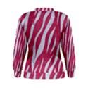 SKIN3 WHITE MARBLE & PINK DENIM Women s Sweatshirt View2