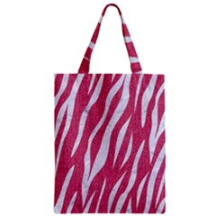 Skin3 White Marble & Pink Denim Zipper Classic Tote Bag by trendistuff