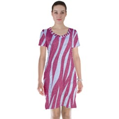 Skin3 White Marble & Pink Denim Short Sleeve Nightdress