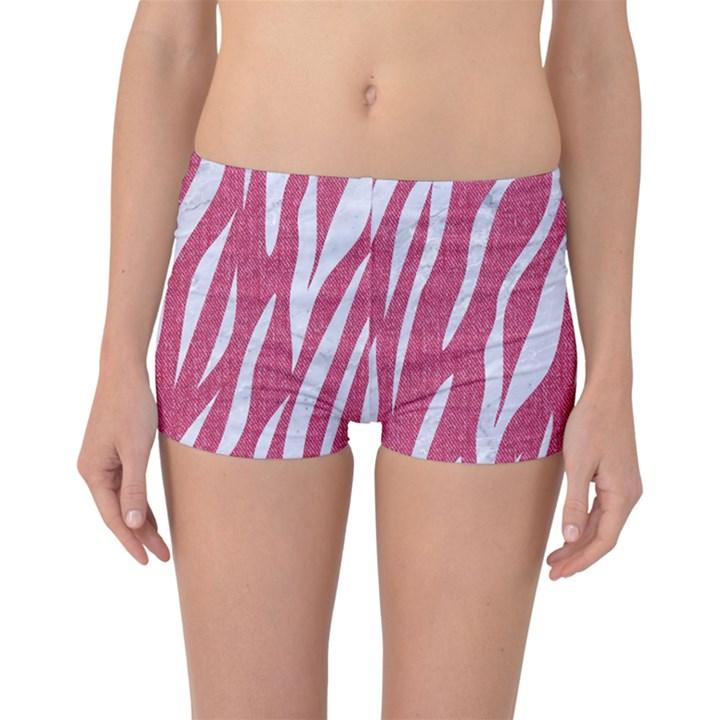 SKIN3 WHITE MARBLE & PINK DENIM Boyleg Bikini Bottoms