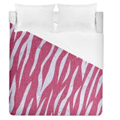 Skin3 White Marble & Pink Denim Duvet Cover (queen Size)