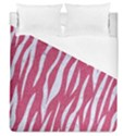 SKIN3 WHITE MARBLE & PINK DENIM Duvet Cover (Queen Size) View1