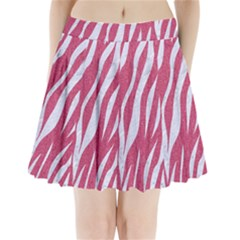 Skin3 White Marble & Pink Denim Pleated Mini Skirt
