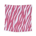 SKIN3 WHITE MARBLE & PINK DENIM Square Tapestry (Small) View1