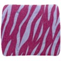 SKIN3 WHITE MARBLE & PINK DENIM Back Support Cushion View1