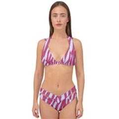 SKIN3 WHITE MARBLE & PINK DENIM Double Strap Halter Bikini Set