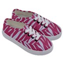 SKIN3 WHITE MARBLE & PINK DENIM Kids  Classic Low Top Sneakers View3