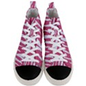 SKIN3 WHITE MARBLE & PINK DENIM Men s Mid-Top Canvas Sneakers View1