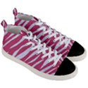 SKIN3 WHITE MARBLE & PINK DENIM Men s Mid-Top Canvas Sneakers View3