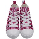 SKIN3 WHITE MARBLE & PINK DENIM Kid s Mid-Top Canvas Sneakers View1