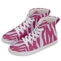 SKIN3 WHITE MARBLE & PINK DENIM Men s Hi-Top Skate Sneakers View2