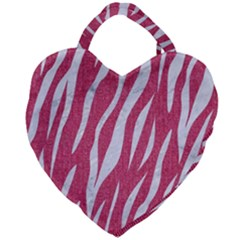 Skin3 White Marble & Pink Denim Giant Heart Shaped Tote by trendistuff