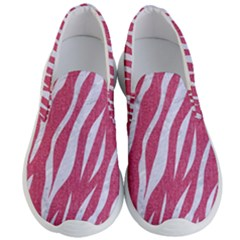 Skin3 White Marble & Pink Denim Men s Lightweight Slip Ons