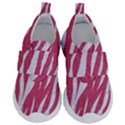 SKIN3 WHITE MARBLE & PINK DENIM Velcro Strap Shoes View1