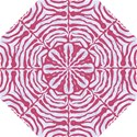SKIN2 WHITE MARBLE & PINK DENIM (R) Golf Umbrellas View1