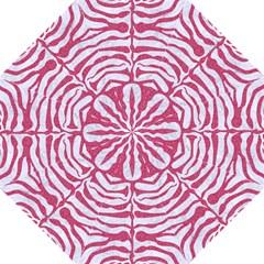 SKIN2 WHITE MARBLE & PINK DENIM (R) Hook Handle Umbrellas (Large)