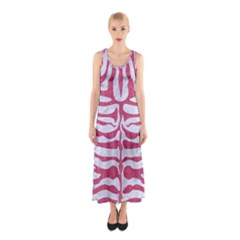 Skin2 White Marble & Pink Denim (r) Sleeveless Maxi Dress
