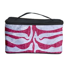 Skin2 White Marble & Pink Denim (r) Cosmetic Storage Case
