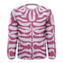 SKIN2 WHITE MARBLE & PINK DENIM (R) Men s Long Sleeve Tee View1