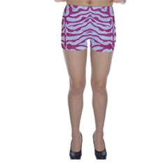 Skin2 White Marble & Pink Denim (r) Skinny Shorts by trendistuff