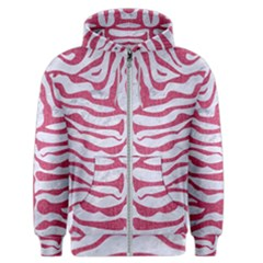 Skin2 White Marble & Pink Denim (r) Men s Zipper Hoodie by trendistuff