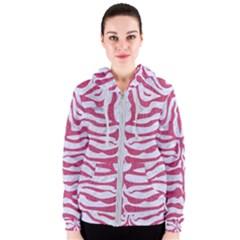 SKIN2 WHITE MARBLE & PINK DENIM (R) Women s Zipper Hoodie