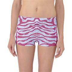SKIN2 WHITE MARBLE & PINK DENIM (R) Boyleg Bikini Bottoms