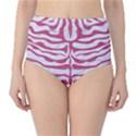 SKIN2 WHITE MARBLE & PINK DENIM (R) Classic High-Waist Bikini Bottoms View1