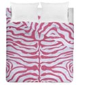 SKIN2 WHITE MARBLE & PINK DENIM (R) Duvet Cover Double Side (Queen Size) View1