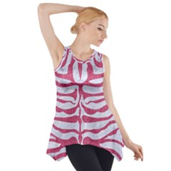 Skin2 White Marble & Pink Denim (r) Side Drop Tank Tunic by trendistuff