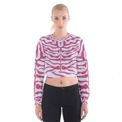SKIN2 WHITE MARBLE & PINK DENIM (R) Cropped Sweatshirt
