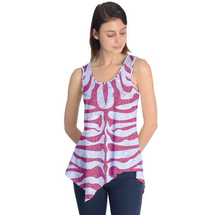 SKIN2 WHITE MARBLE & PINK DENIM (R) Sleeveless Tunic