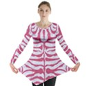 SKIN2 WHITE MARBLE & PINK DENIM (R) Long Sleeve Tunic  View1