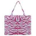 SKIN2 WHITE MARBLE & PINK DENIM (R) Zipper Medium Tote Bag View1