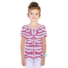 Skin2 White Marble & Pink Denim (r) Kids  One Piece Tee by trendistuff