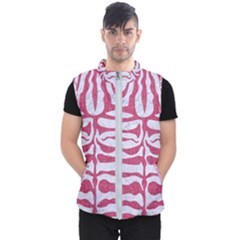 Skin2 White Marble & Pink Denim (r) Men s Puffer Vest by trendistuff